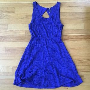 Free People Blue Lace Dress